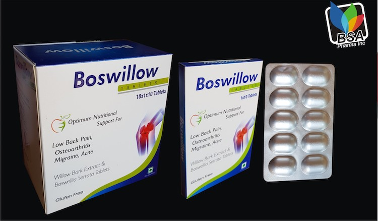 Willow Bark Extract 800mg - boswillow Tablets