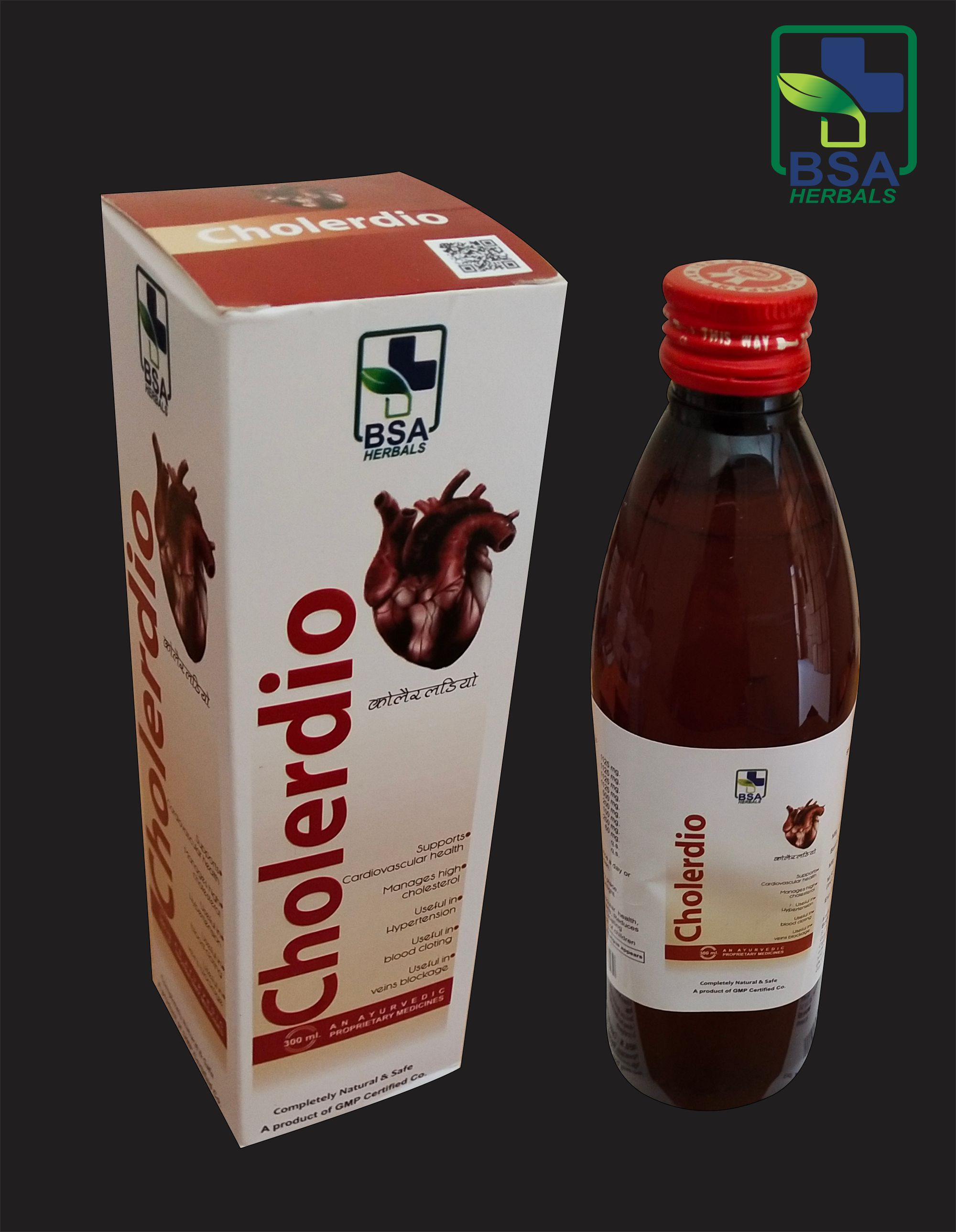 Herbal cholesterol reduction syrup