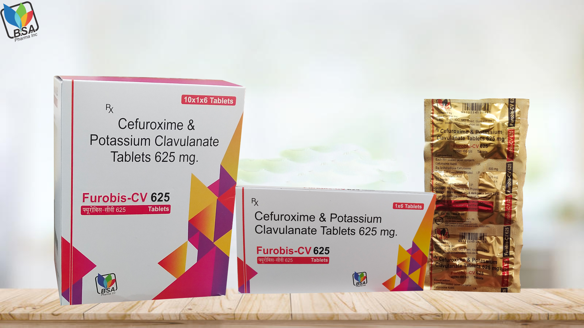 Cefuroxime Axetil Potassium Clavulanate 625mg tablets